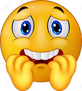 33886499-Emoticon-miedo-de-dibujos-animados-sonriente-Foto-de-archivo