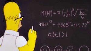 Homer haciendo matemáticas
